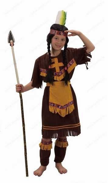 KARNEVAL Šaty INDIÁNKA vel. S (110-120 cm) 4-6 let KOSTÝM