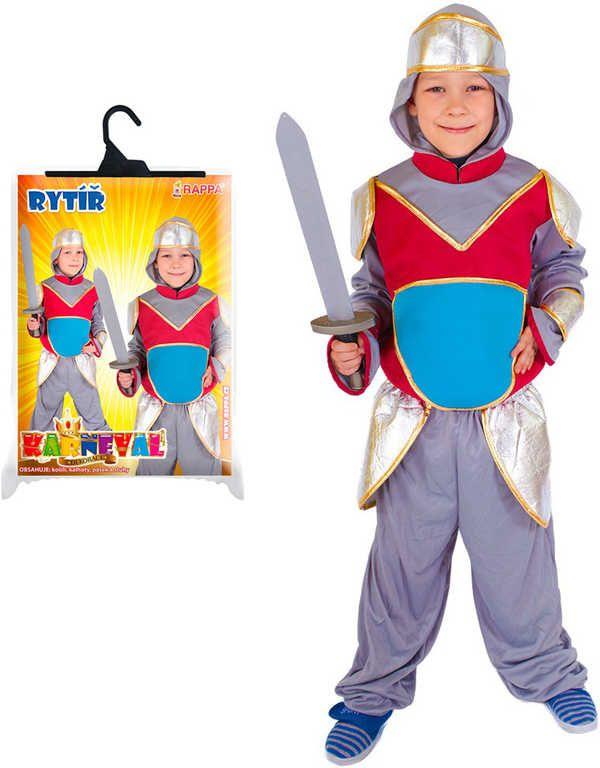 KARNEVAL Šaty rytíř s kapucí vel.S (4-6 let) KOSTÝM Rappa