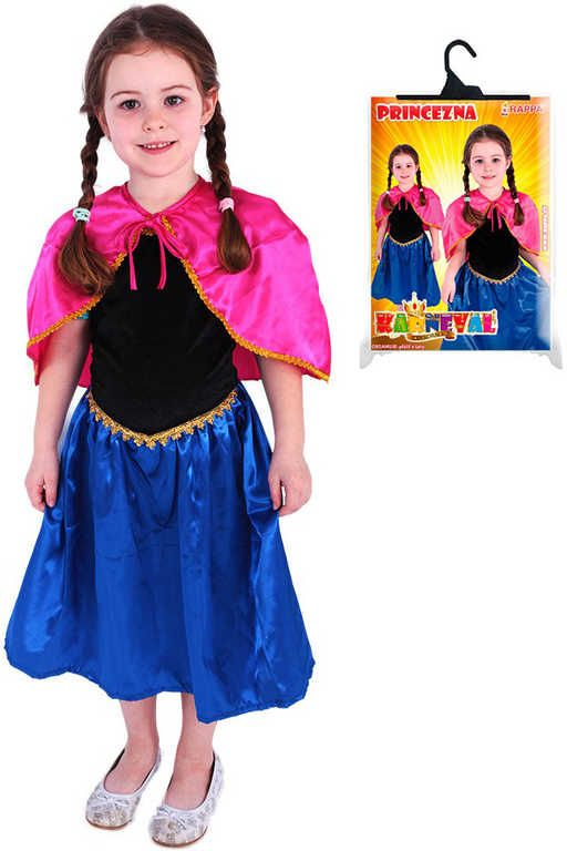 KARNEVAL Šaty zimní princezna Anna vel.M 6-8 let KOSTÝM Rappa