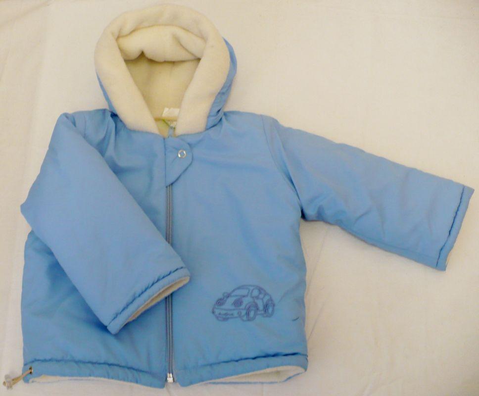 Kojenecká zimní šusˇáková bunda kabátek modrá 74 Vejnar
