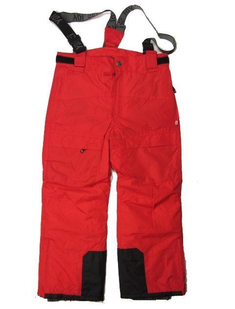 Lyžařské kalhoty zimní oteplováky YDI 116-122 - červená barva