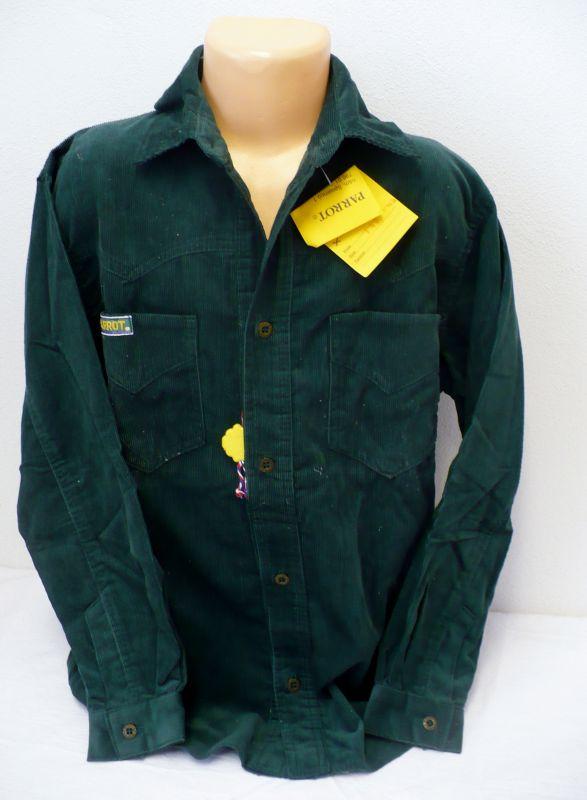 Manžestrová košile s dlouhým rukávem zelená140 - VÝPRODEJ Parrot
