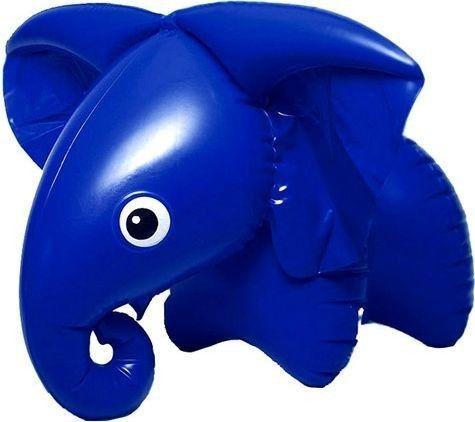 Retro modrý Slon nafukovací 76 x 53 cm Fatra