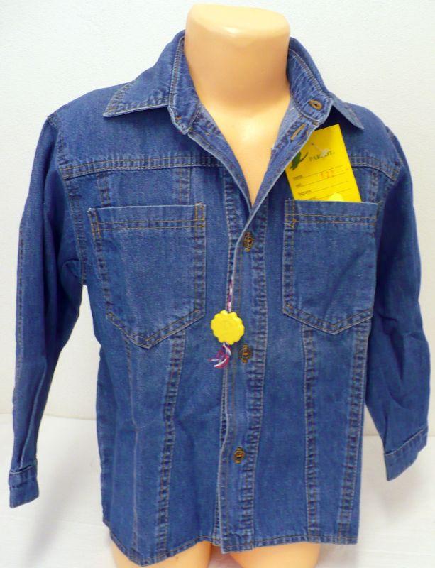 Riflová košile s dlouhým rukávem 122 - VÝPRODEJ Parrot