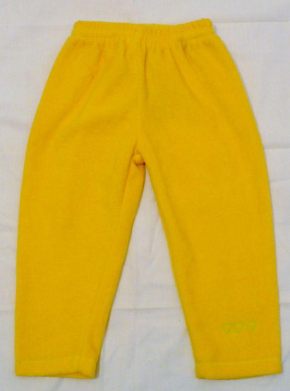 Žluté flísové kalhoty tepláky tepláčky VÝPRODEJ Kamulino