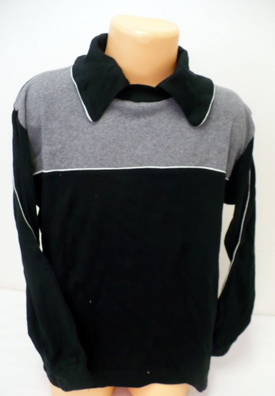 Tričko s dlouhým rukávem s límečkem rozhalenkou vel.134 Linda-Jihlava