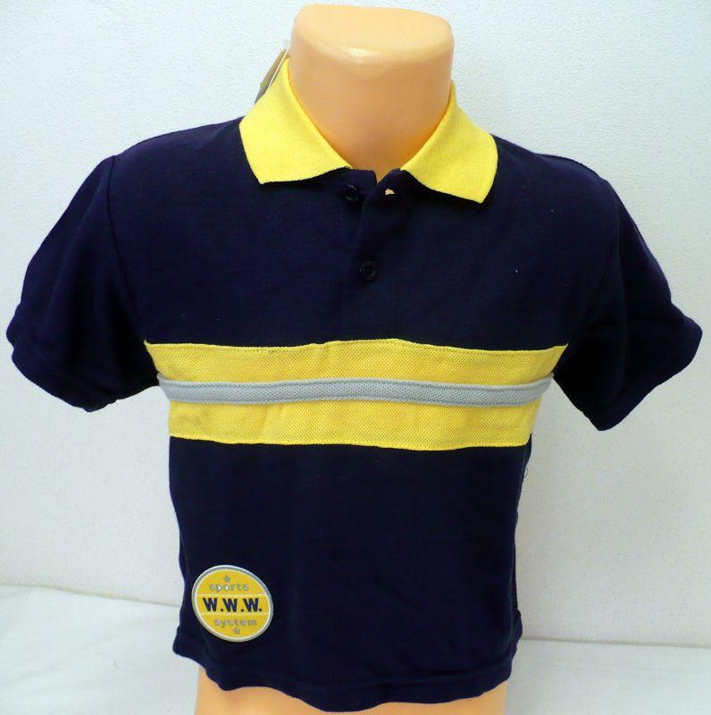 Tričko s krátkým rukávem s rozhalenkou, s límečkem 104