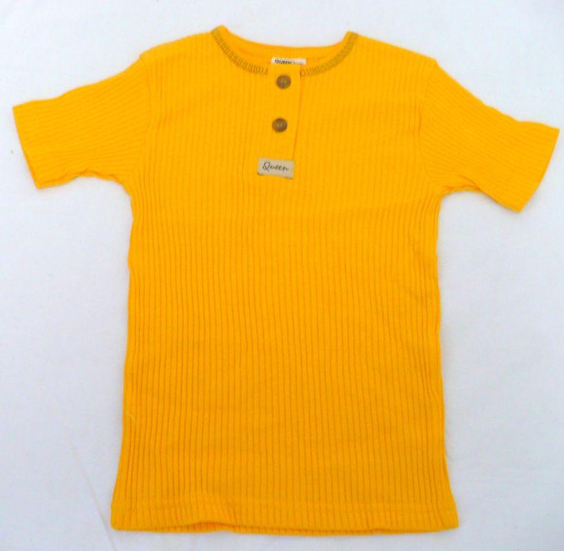 Tričko triko krátký rukáv 92 žluté - VÝPRODEJ Queen