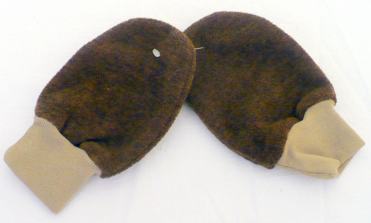 Zimní froté rukavice pěstičky